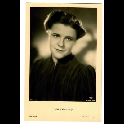 Postkarte Paula Wessely, Ross Verlag, ca. 1937/38