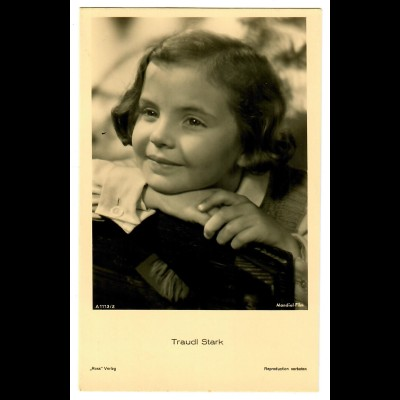 Postkarte Traudl Stark, Ross Verlag, ca. 1937/38
