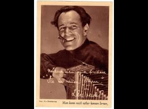 Postkarte Luis Trenker, Stern - Filmstar Steckbrief ca. 1937/38
