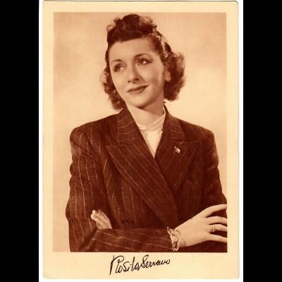 Postkarte Rosita Serrano, Telefunkenplatten, ca. 1937/38