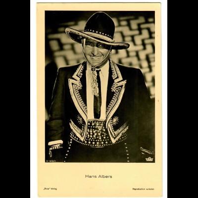 Postkarte Hans Albers, Ross Verlag, Tobis, ca. 1937/38