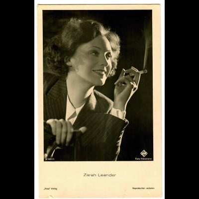 Postkarte Zarah Leander, Ross Verlag, Ufa, ca. 1937/38