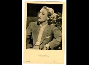 Postkarte Marlene Dietrich, Ross Verlag, Ufa, ca. 1937/38