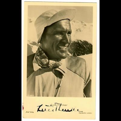 Postkarte Luis Trenker, Autogramm, Ross Verlag, ca. 1937/38