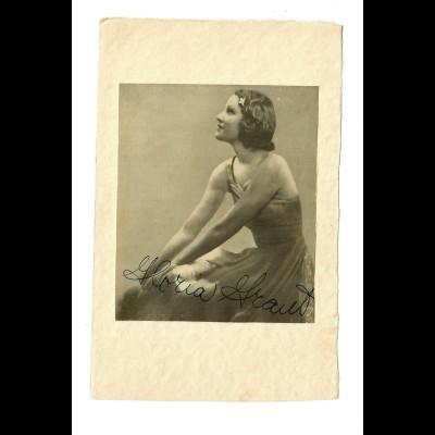 Postkartenformat mit Gloria Fraud, ca. 1937/38