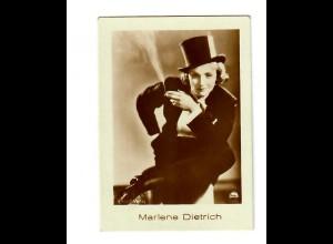 Sammelbild Mercedes Zigaretten mit Marlene Dietrich