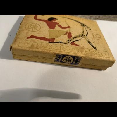 GG: Zigarettenschachtel Egipskie Przednie, GDM, Steuer Marke blau, Inhalt