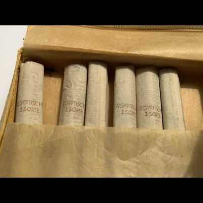 GG: Zigarettenschachtel Egipskie Przednie, GDM, Steuer Marke rot, Inhalt