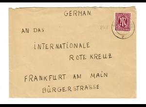 Braunschweig 1946 an das Rote Kreuz nach Frankfurt/M