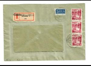 Koblenz-Lütze, Brief als Einschreiben nach Reutlingen 1949