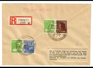 Einschreiben Leizig mit Sonderstempel Messe 1948
