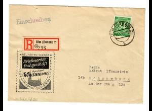 Einschreiben Ulm 1948 nach Schramberg