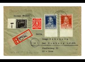 Einschreiben Leipzig nach Bad Homburg: Teil- HAN 1947