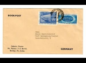 Bombay: Catholic Mission - book post to Germany
