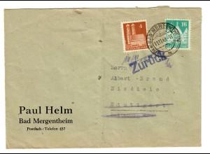 Bad Mergentheim 1948 nach Stuttgart - Eisdiele und zurück