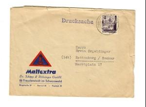 Drucksache Freudenstadt nach Rottenburg/N 1949
