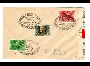 Ungarn: Budapest 1940 nach Reutlingen mit Zensur