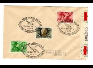 Ungarn: Budapest 26.III.1940 nach Reutlingen mit Zensur