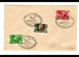 Ungarn: Budapest 26.III.1940 nach Reutlingen - Flugzeug