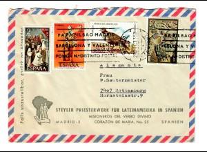 Spanien: Brief Priesterwerk für Lateinamerika in Spanien 1973