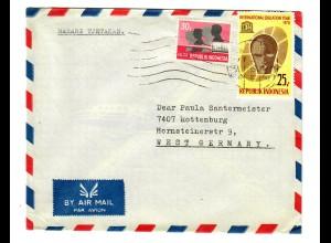 Luftpost Brief Kolese Ignasius Jogjakarta to Rottenburg/N