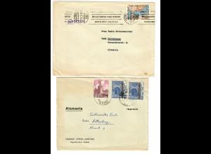 2x Briefe Seminario Misonero de Mariannhill, Palencia, Veguellina