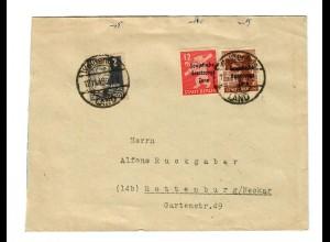 Weißenfels: Brief 1948 nach Rottenburg/N
