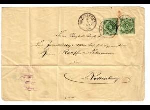 Brief aus Mössingen nach Rottburg/N 1894