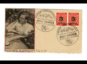 Avus Rennen 1951 Berlin Charlottenburg Pim Richardson, holländischer Beelsfahrer