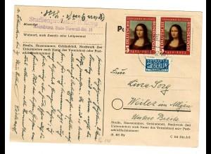 Postkarte Augsburg nach Weiler/Allgäu 1962