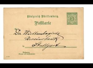 Ganzsache Conditor in Rottenburg/N nach Stuttgart