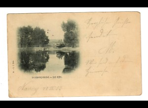 Ansichtskarte Bosserville le bac/Vosges/Epinay nach Heilbronn 1899