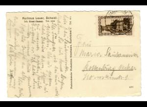 Ansichtskarte Scheidt, 1933 nach Rottenburg/N