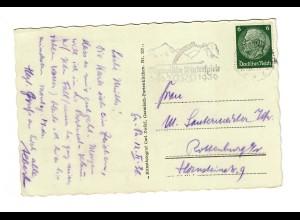 Ansichtskarte Garmisch 1936: Olympische Winterspiele nach Rottenburg/N