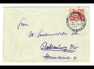 Brief Garmisch 1936: Olympische Winterspiele nach Rottenburg/N