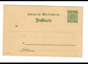 Ganzsache Württemberg Post
