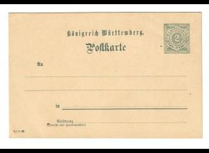 Ganzsache Württemberg Post 2 Pfg