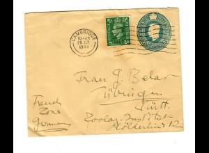 Brief aus Cambridge 1949 nach Tübingen: Zoologisches Institut