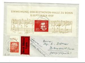 Eilboten Brief Nürnberg 1959 nach Mittenwald