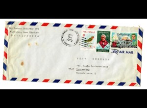 Luftpost Brief Mamburao, Occ Mindoro 1972 nach Rottenburg/N