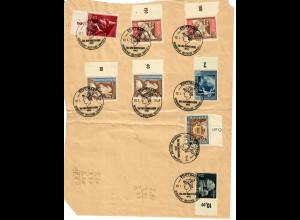 Sondermarken gestempelt Stuttgart: Tag der Briefmarke 10.01.1943