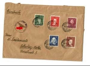 GG: Brief mit Dienststellenstempel Tschenstochau 1944