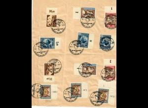 Sondermarken gestempelt Stuttgart: Tag der Briefmarke 10.01.1943, schön