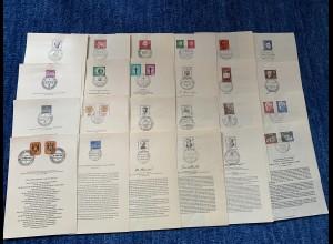 24x ältere Ersttagsblätter von Berlin, 50er Jahre und wenige 60er Jahre