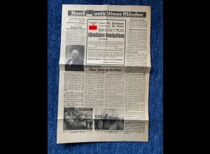 Rund ums Ulmer Münster: Zeitungsseite 1935