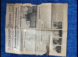Münchner Zeitung Nr. 1 vom 9.6.1945: Original