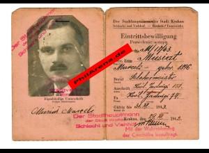 GG: Eintrittsbewilligung Schlachthof Krakau 1942,