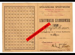 GG: Ausweis Spolem Warschau