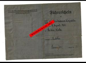 GG: Führerschein Lublin 1941