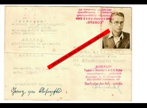 GG: KOMPASS Krakau, Ausweis Neu Sandez für Bilanzbuchhalter 1941
